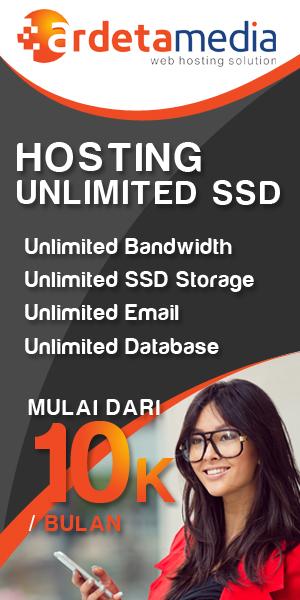 SSD Web Hosting Unlimited Murah Bergaransi Uang Kembali 100%